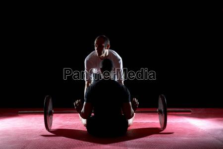 lebensstil muskel stehend vorderansicht balance ausgewogenheit