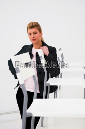 confident business women in office