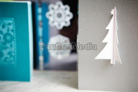 schliessen dekorativer weihnachtskarten