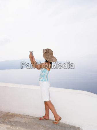 woman taking a picture of the