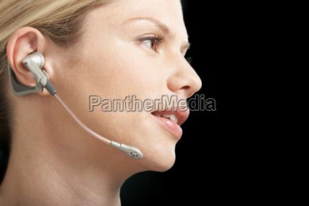 close up portrait of business woman