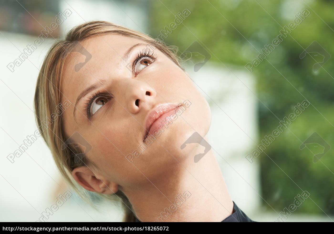 close-up-porträt, der, geschäftsfrau. - 18265072