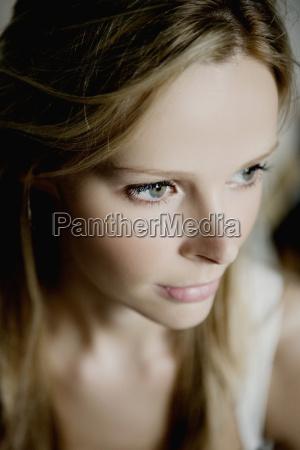 womans face close up
