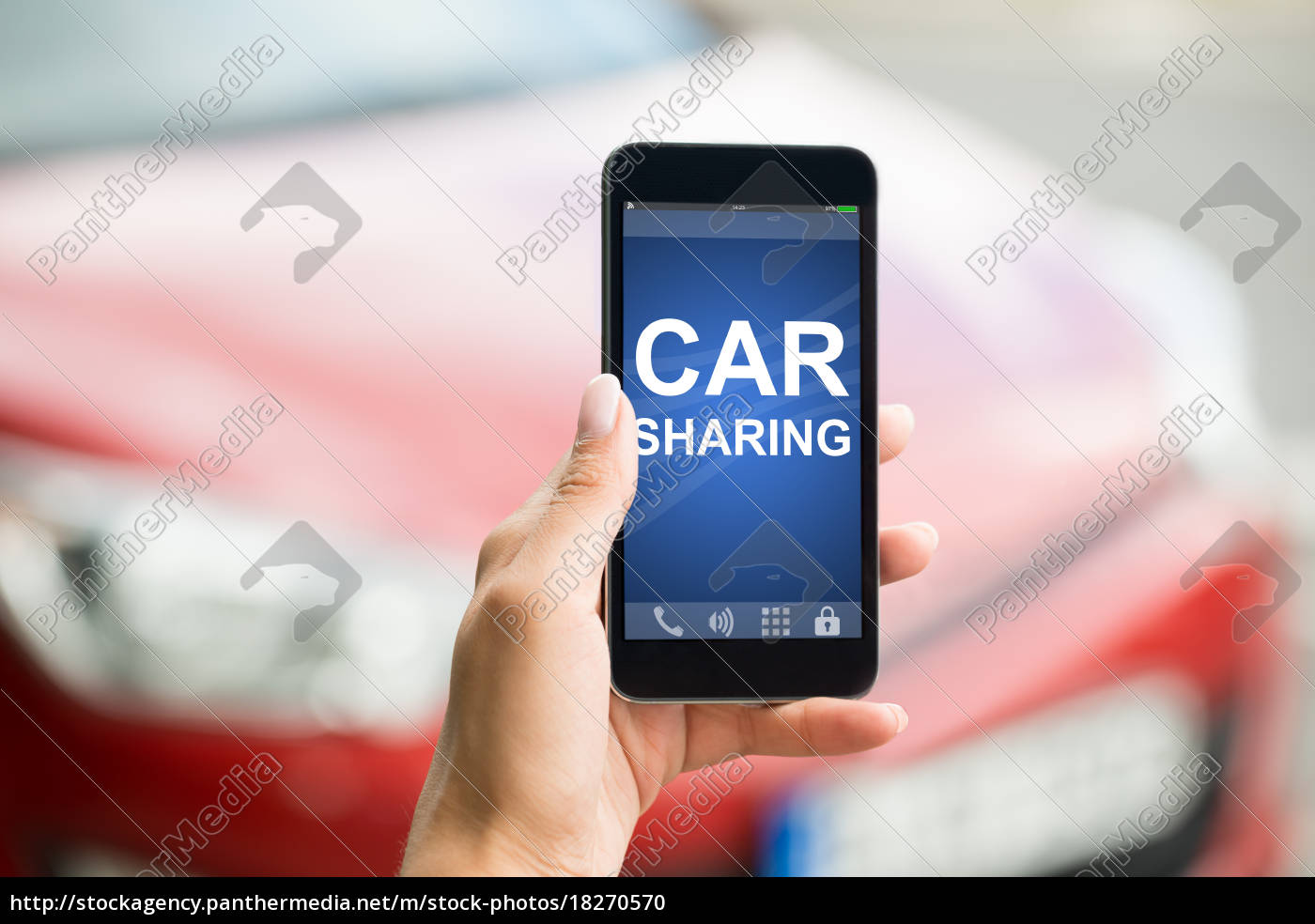 smartphone, mit, car, sharing, app, on - 18270570