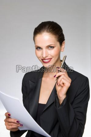 female beauty model as business woman