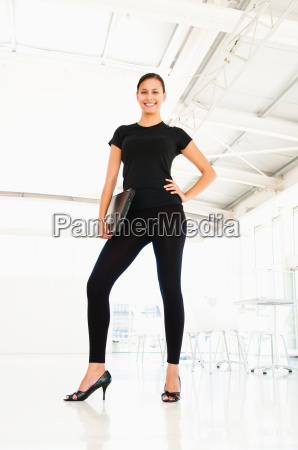 confident businesswoman in office