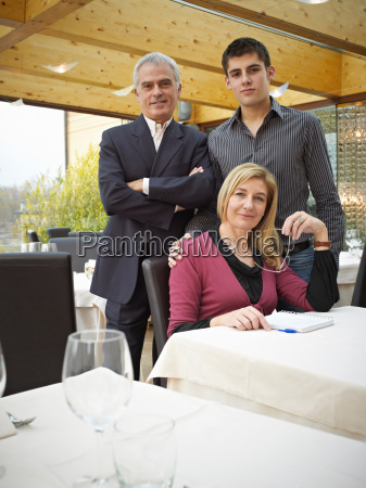 mother father and son in a