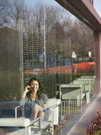 business woman in cafe on the