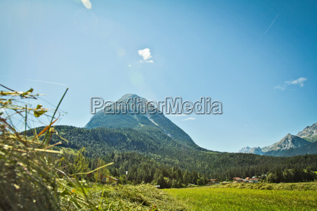 mountains and rural landscape