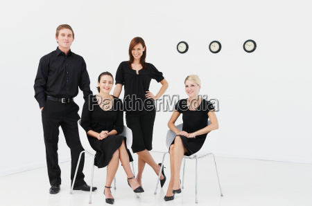 relaxed group of business people
