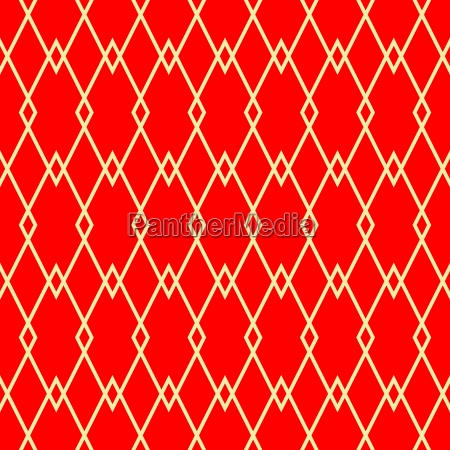 red and golden tile vector pattern