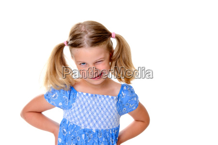 little bold pertly with pigtails