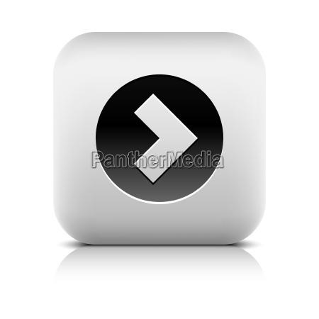 web icon mit pfeilzeichen im schwarzen