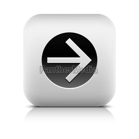web icon with black arrow sign