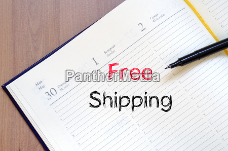 free shipping text concept on notebook