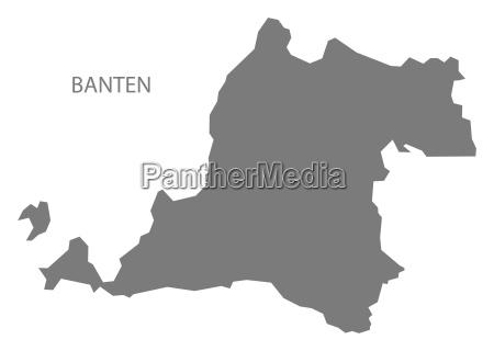 banten indonesien karte grau