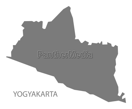 yogyakarta indonesien karte grau