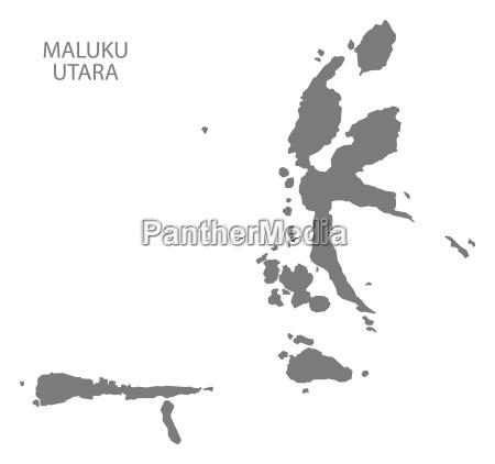 maluku utara indonesien karte grau