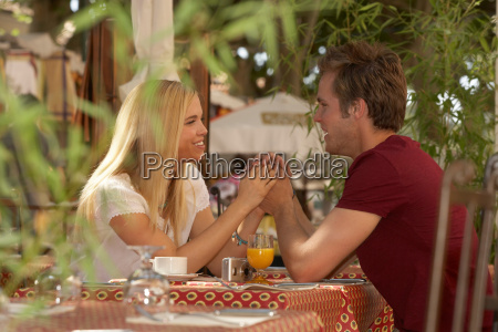 couple in french market cafe