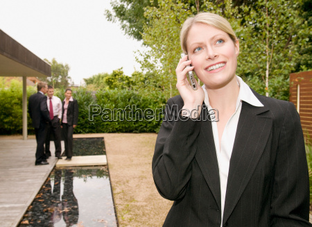 a business woman on her mobile