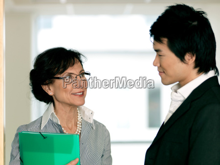 business woman and trainee