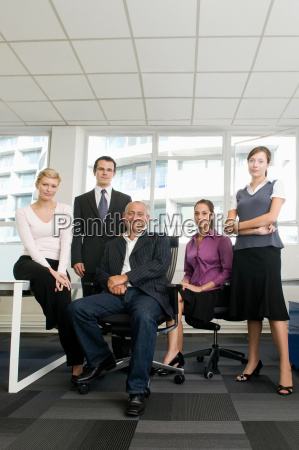 a portrait of a business team