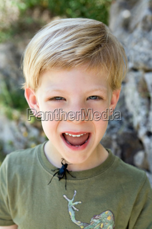 a portrait of a boy with
