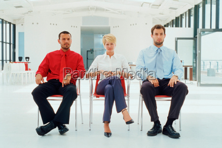 business people sitting in office