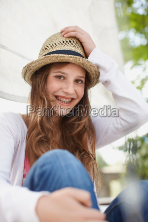 young girl smiling into the camera
