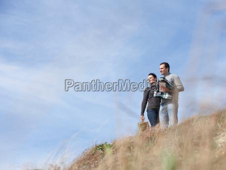 couple appreciating nature