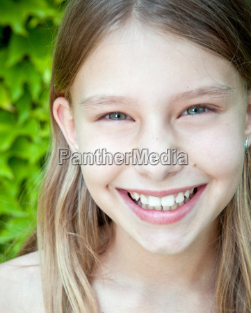 young girl close up portrait