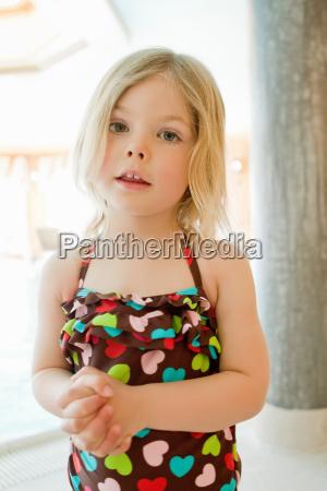 girl wearing bathing suit