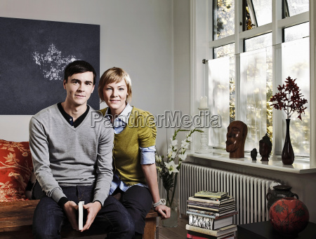 couple sitting together in living room