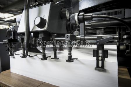 paper prepared in printing machine in