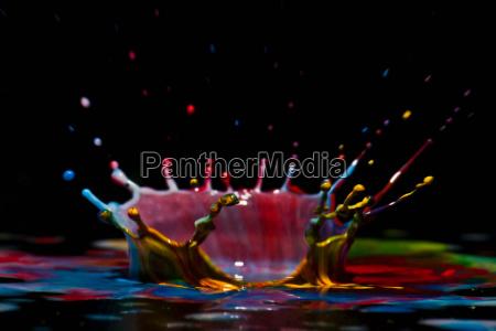 close up of splash of paint