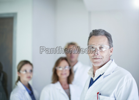 portrait of senior male scientist wearing