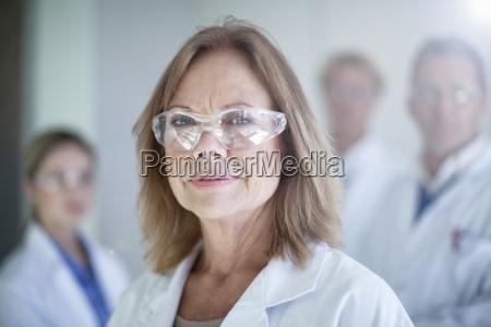 portrait of mature female scientist wearing