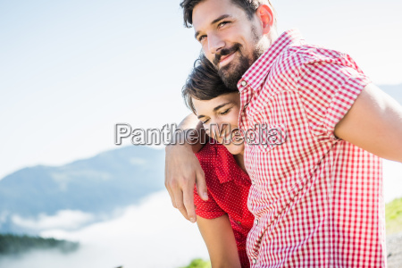 portrait of young couple tyrol austria