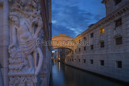 the bridge of sighs at dusk
