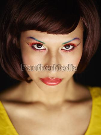 frau mode weiblich gesicht portrait portraet