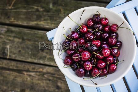 bowl of cherries on top of