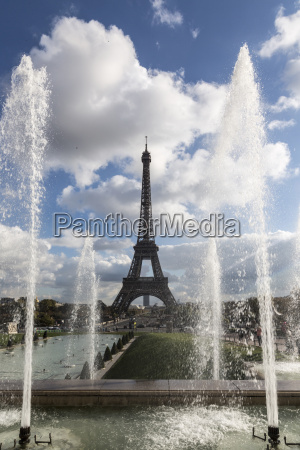 view of park fountains and eiffel