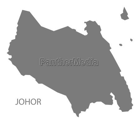 johor malaysia karte grau