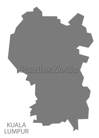 kuala lumpur malaysia karte grau