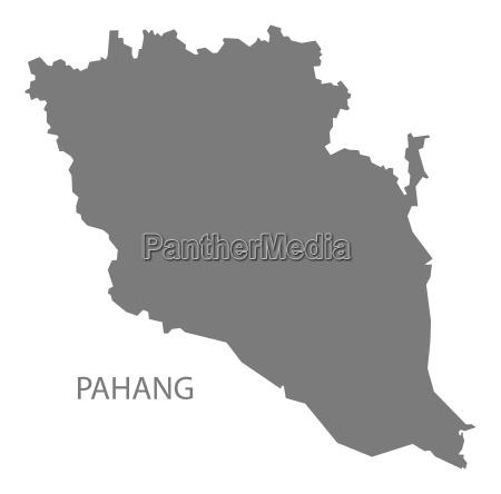 pahang malaysia karte grau