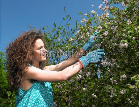 woman working in the garden