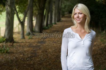 woman reflecting in garden