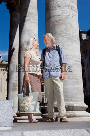 couple standing talking