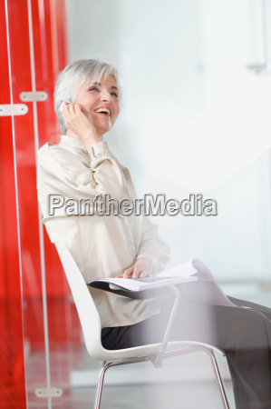woman with cell phone in an