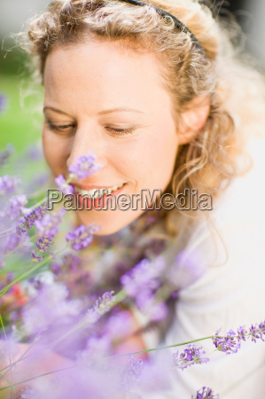 portrait of middle aged woman and